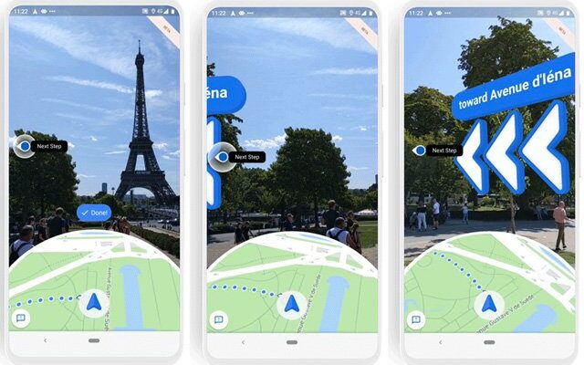 Google Maps Features a massive arrow for people with Mediocre Navigation Skills